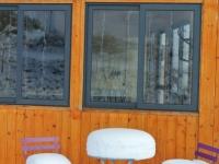 Barbacoa coberta hivern nevat
